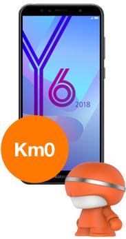 Huawei Y6 2018 km0 orange + altavoz cabezon