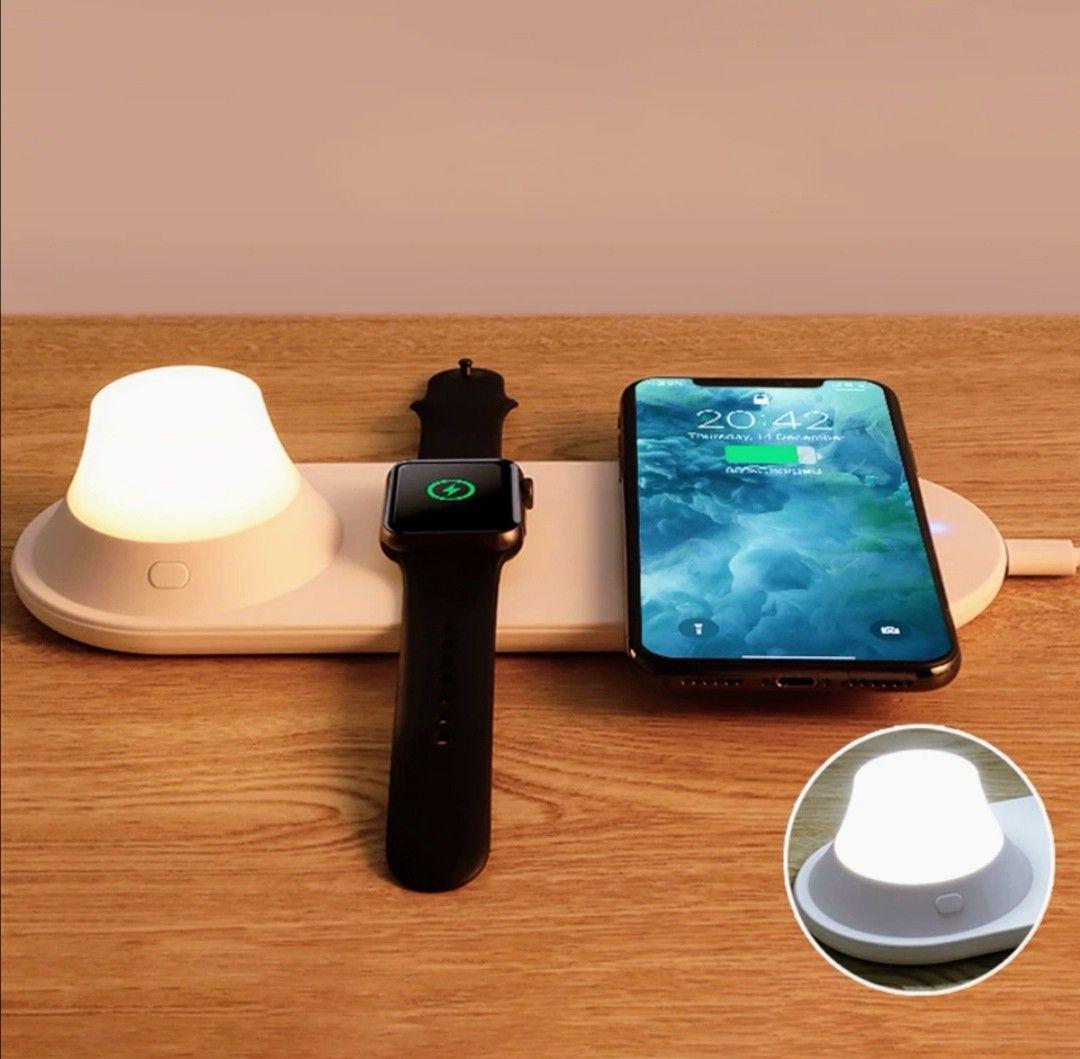Cargador inalámbrico + lámpara