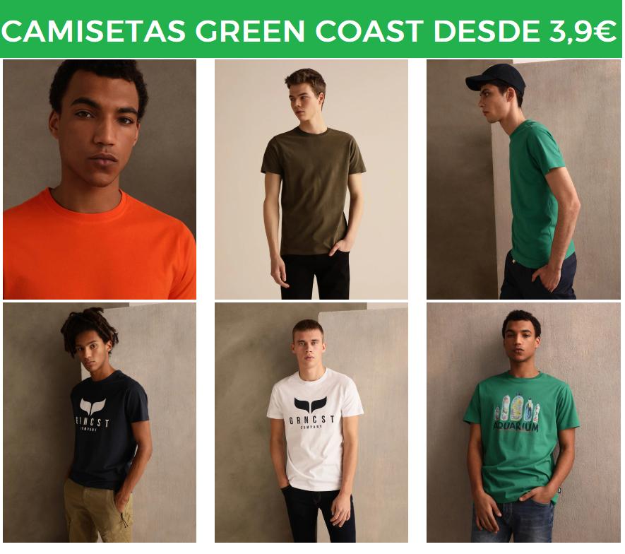 Camisetas Green Coast desde 3.9€