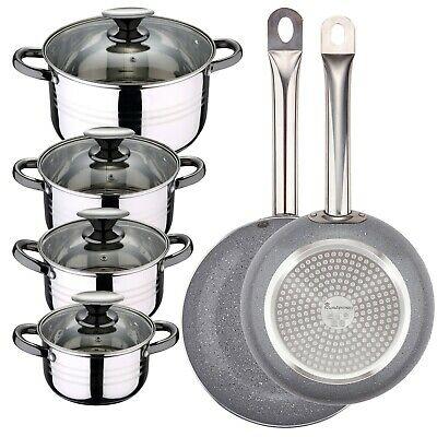 Batería de cocina San Ignacio: 8 piezas + Set 2 Sartenes (inducción)