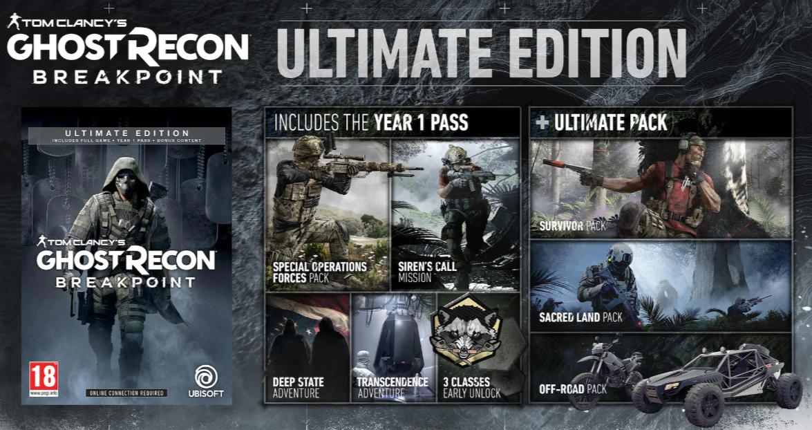 Ghost Recon: Breakpoint ULTIMATE EDITION oferta en la tienda Ubisoft