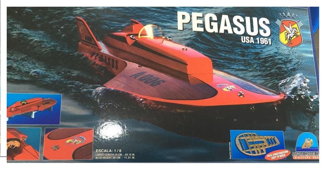 Kit de lancha Pegasus, del año 61, escala 1/8
