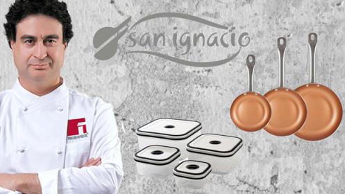 3 sartenes San Ignacio y 3 fiambreras San Ignacio