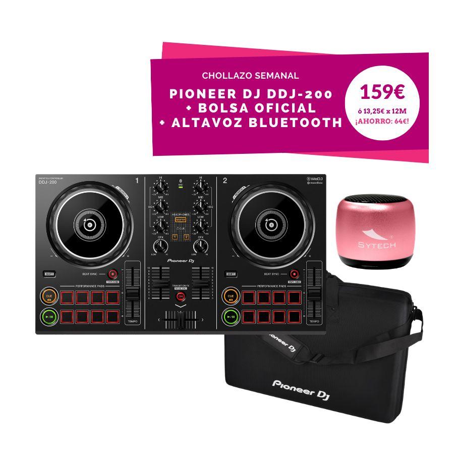 PIONEER DJ DDJ200 + MALETÍN + ALTAVOZ BLUETOOTH