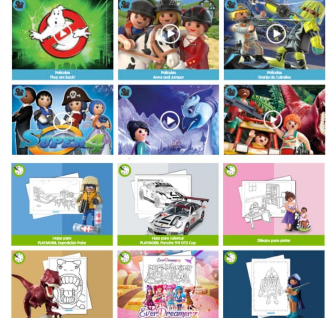 Playmobil cortos de películas y colorear GRATIS