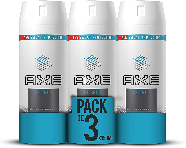 Axe Antitranspirante Ice Chill - Pack de 3 x 150ml (Total 450ml)