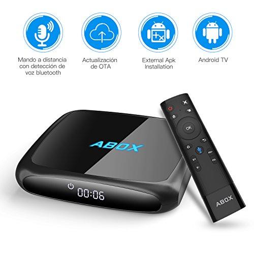 TV Box con control por voz, Android 7.1, 4K Ultra HD y 2GB de RAM.