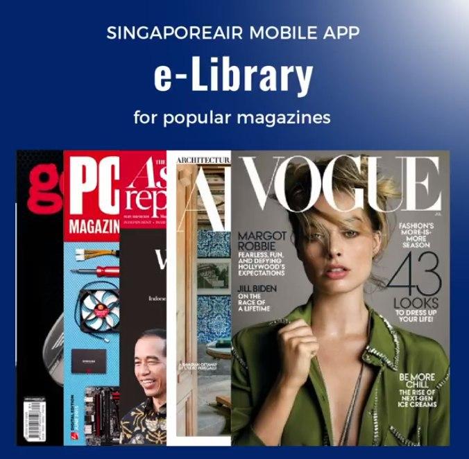 Singapour Air pone desde su APP gratuitamente más de 150 revistas y periodicos Internacionales