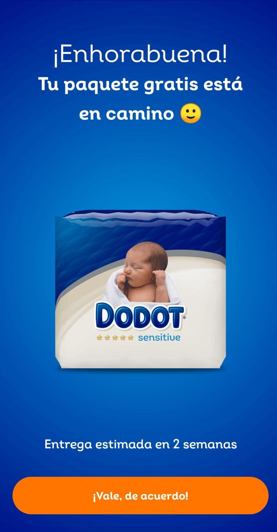 Paquete pañales Dodot gratis con 1 pincode