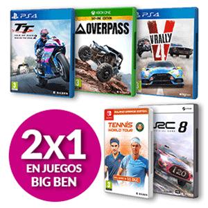 2x1 en Videojuegos Big Ben