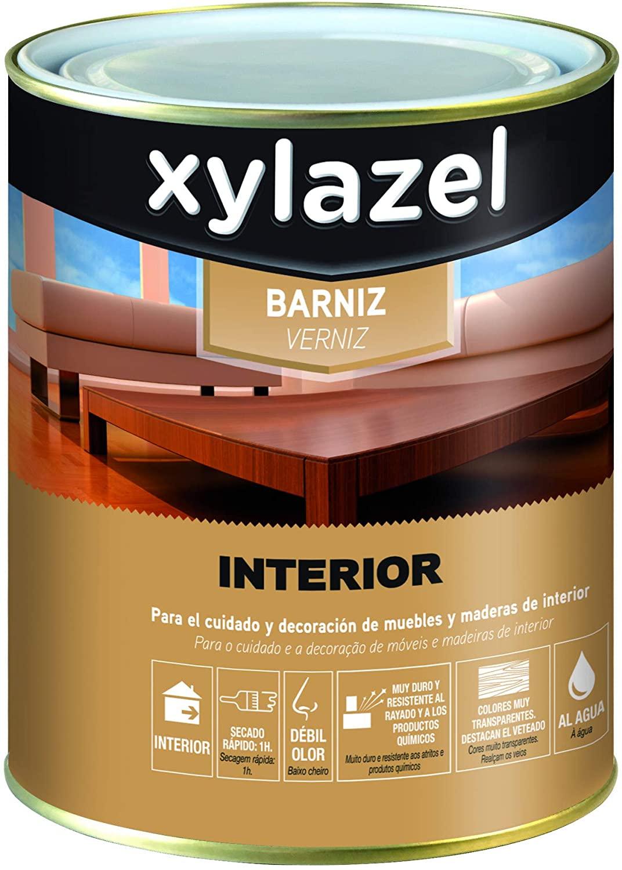Xylazel M128687 - Barniz agua interiores incoloro brillo de 750ML
