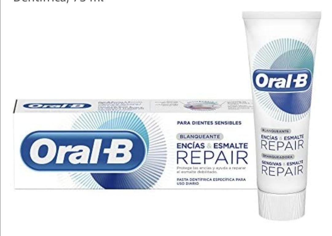 Oral-B Encías & Esmalte Repair Blanqueante, Pasta Dentífrica, 75ml (compra recurrente)