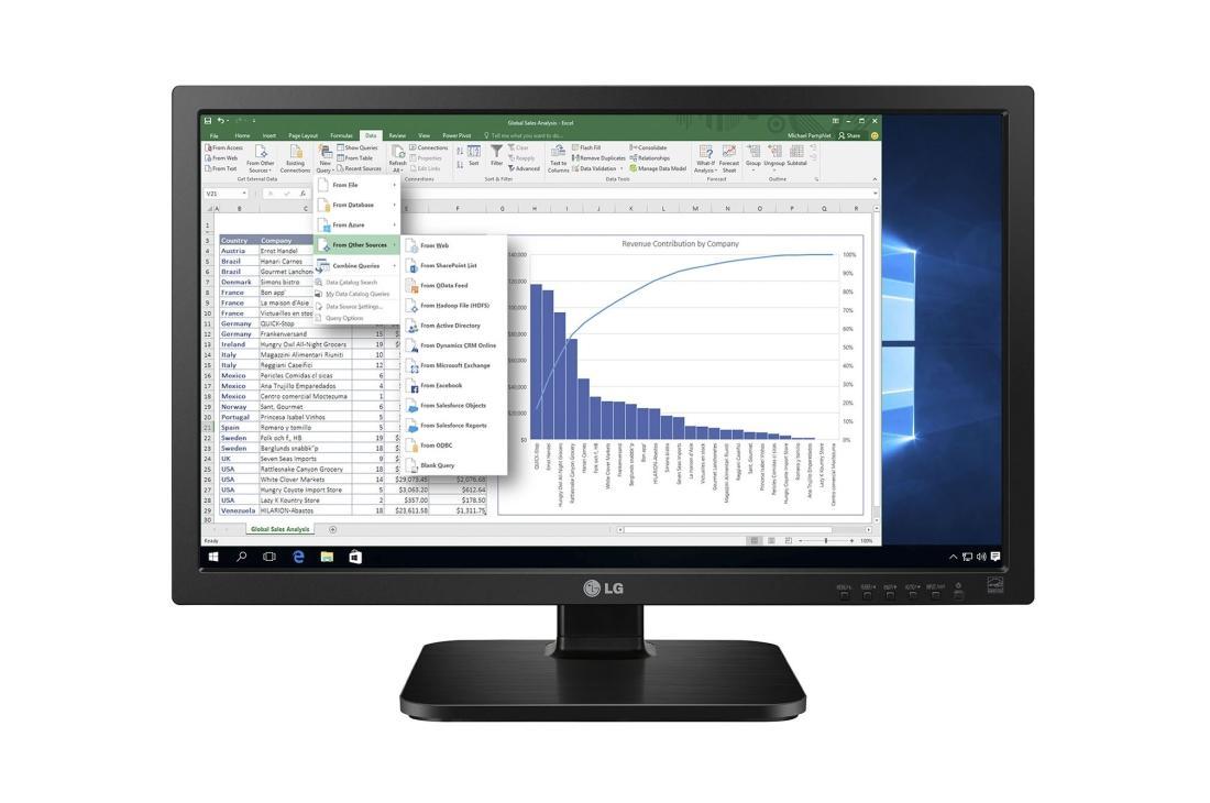 LG Monitor 24MB37PM-B LED-Display 60,45 cm (Reacondicionado, desde Alemania)