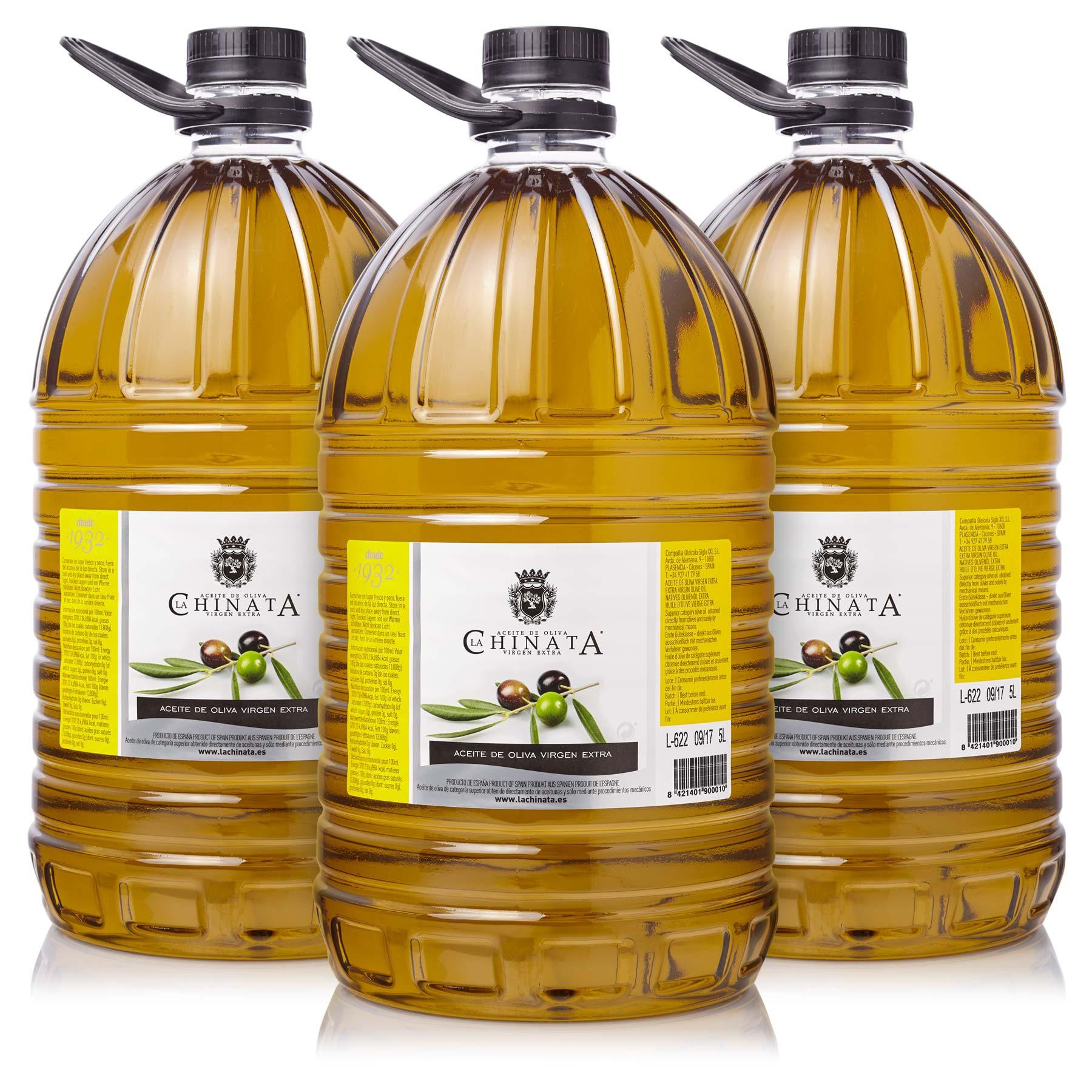 Aceite de Oliva Virgen Extra PET 5l (Caja de Tres Garrafas)