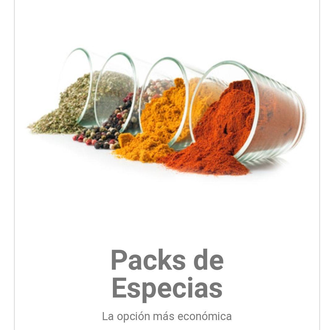 Envío GRATIS (sin mínimo) en toda la Web de Condimentos,especias y hierbas para la cocina. +10%descuento +Cupones descuento (con mínimo)
