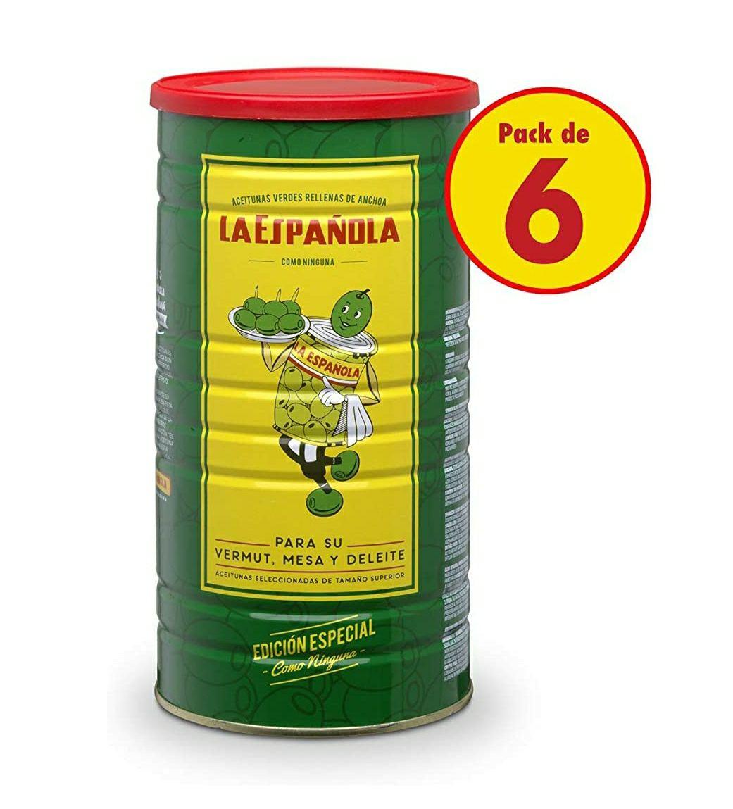 Edición Especial 2kg Rellena de Anchoa La Española (Rellena de Anchoa)pack de 6
