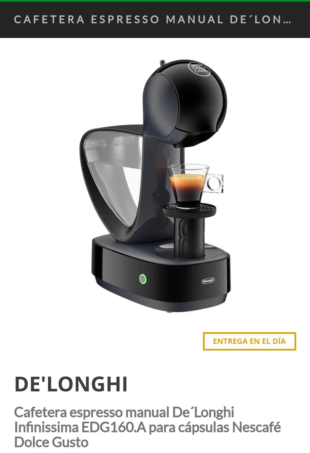 ECI descuento en cafeteras Dolce Gusto y Nespresso.