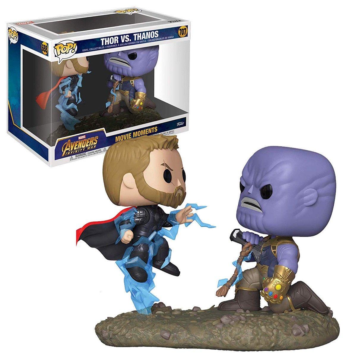 Funko - Pop Bobble 2-Pack: Marvel: Movie Moments: Thor vs Thanos