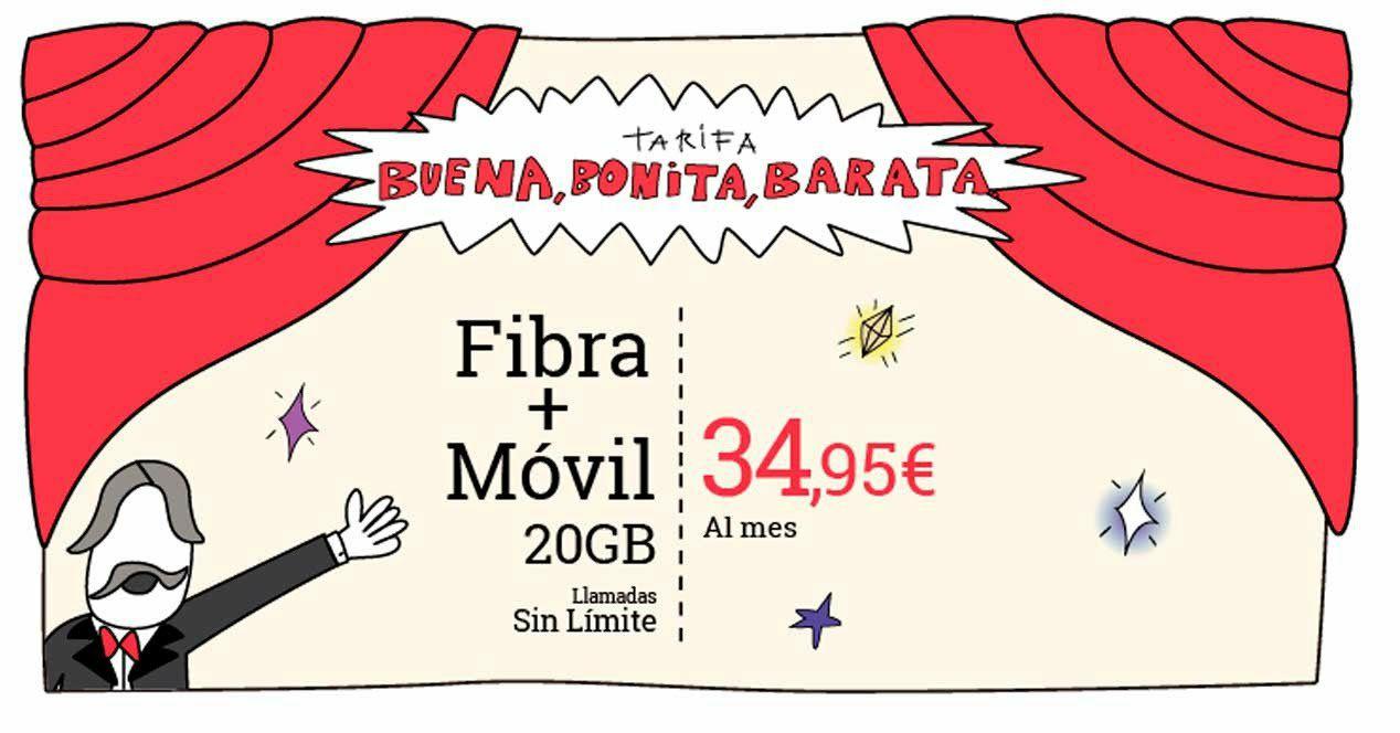 Tarifa BBB Lowi fibra+movil
