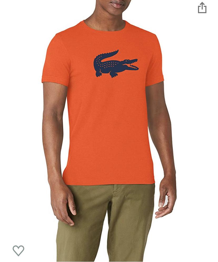 Camiseta Lacoste Naranja Hombre (XS)