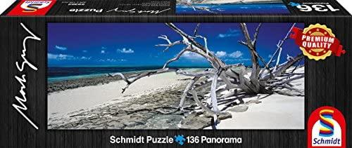 Puzzles de la marca schmidt de 136 piezas, panoramicos