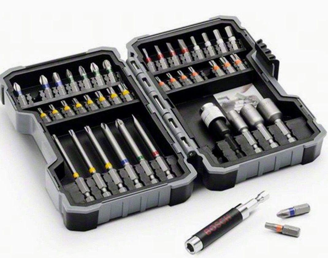 Bosch - Set de 43 unidades para atornillar y llaves de vaso
