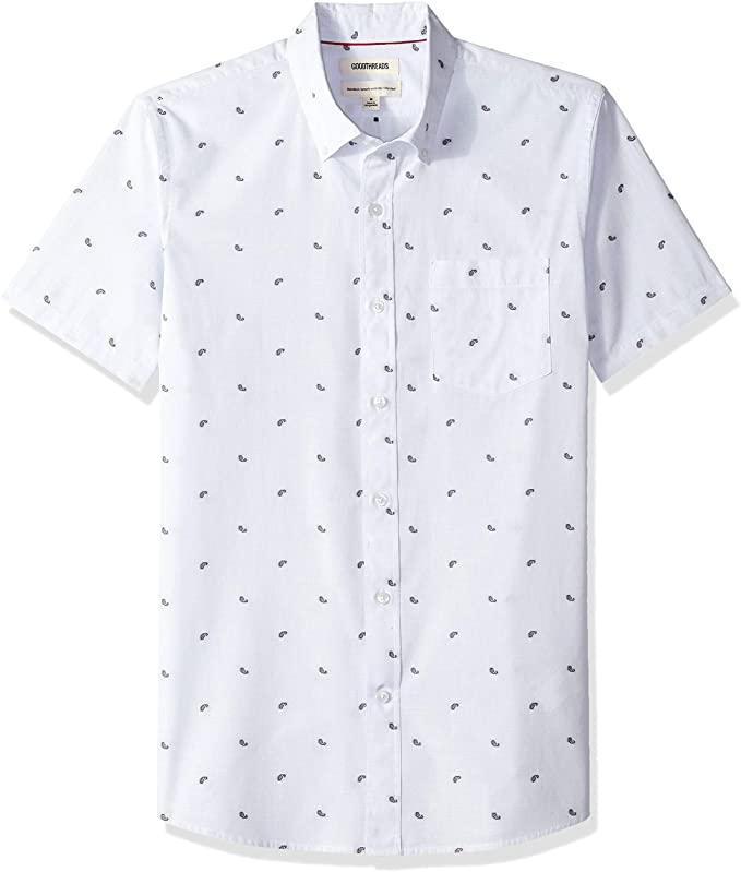 Camisa casual para hombre, Color: Azul (Light Blue Paisley Pai), talla M