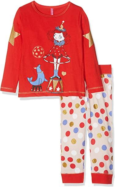 Lina Pink Pijama para Bebés, color rojo, 6 años