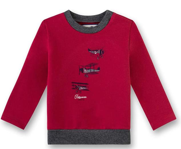 Sanetta Sweatshirt Sudadera para Bebés, rojo, talla 62