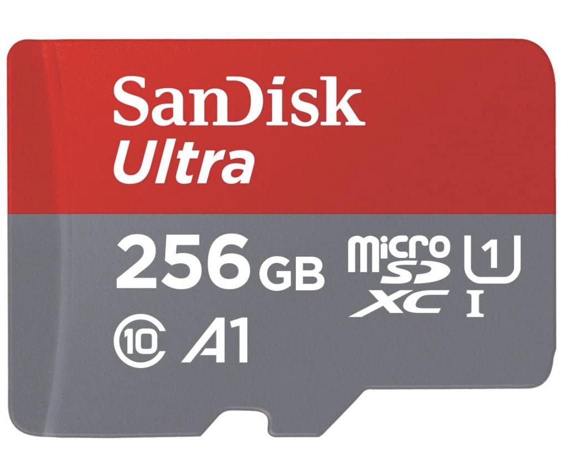 Tarjeta de memoria microSD 256 GB SanDisk Ultra