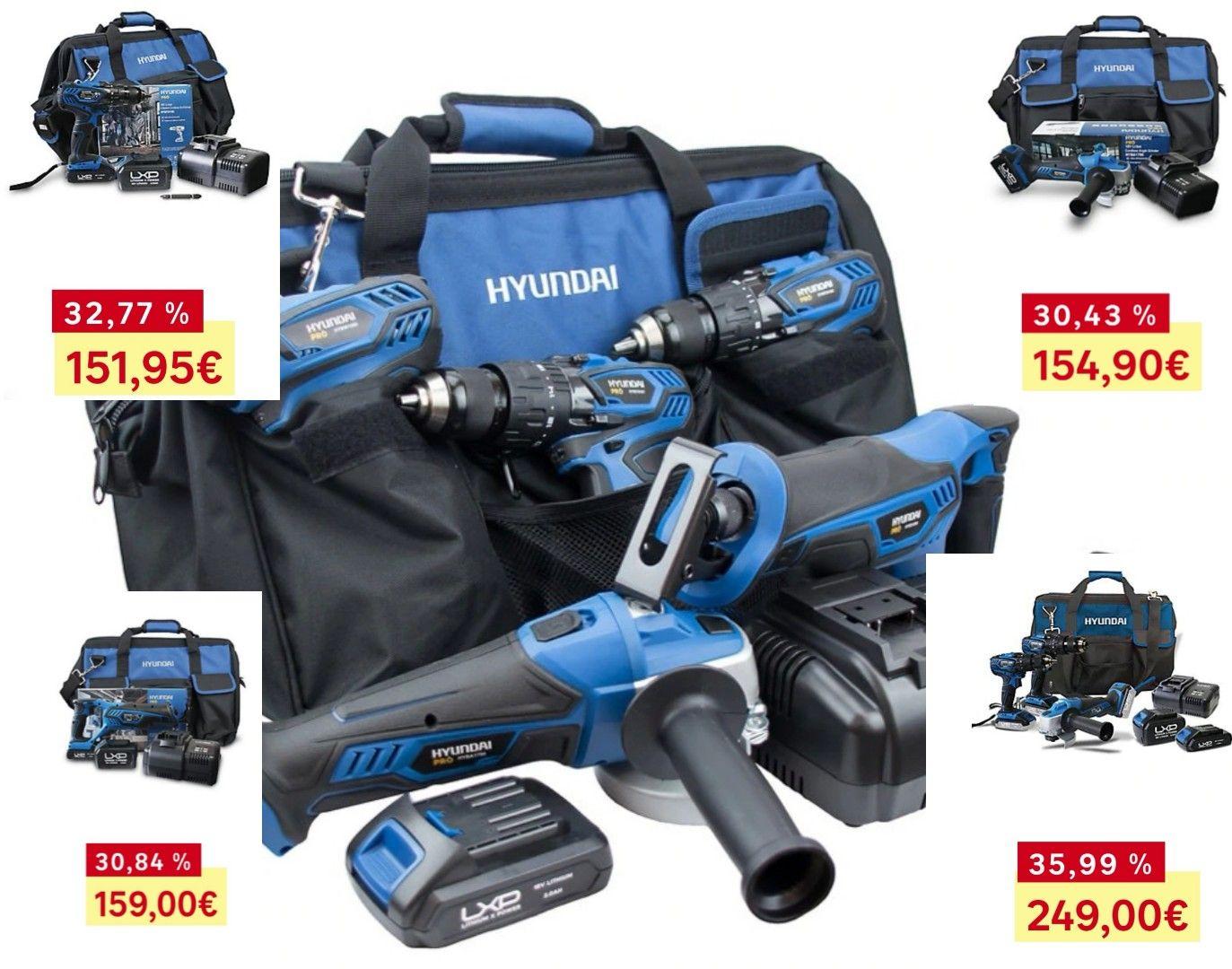 Recopilatorio pack herramientas sin cable Hyundai - Leroy Merlin (ver descripción)