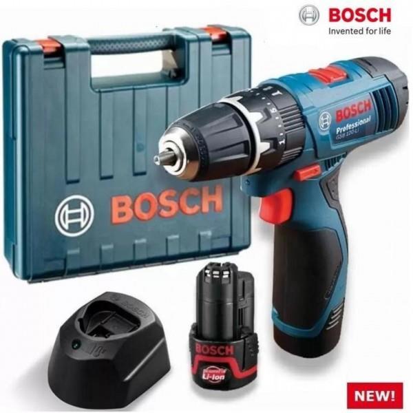 Bosch taladro 12V +2 baterías + maletín solo 88.5€