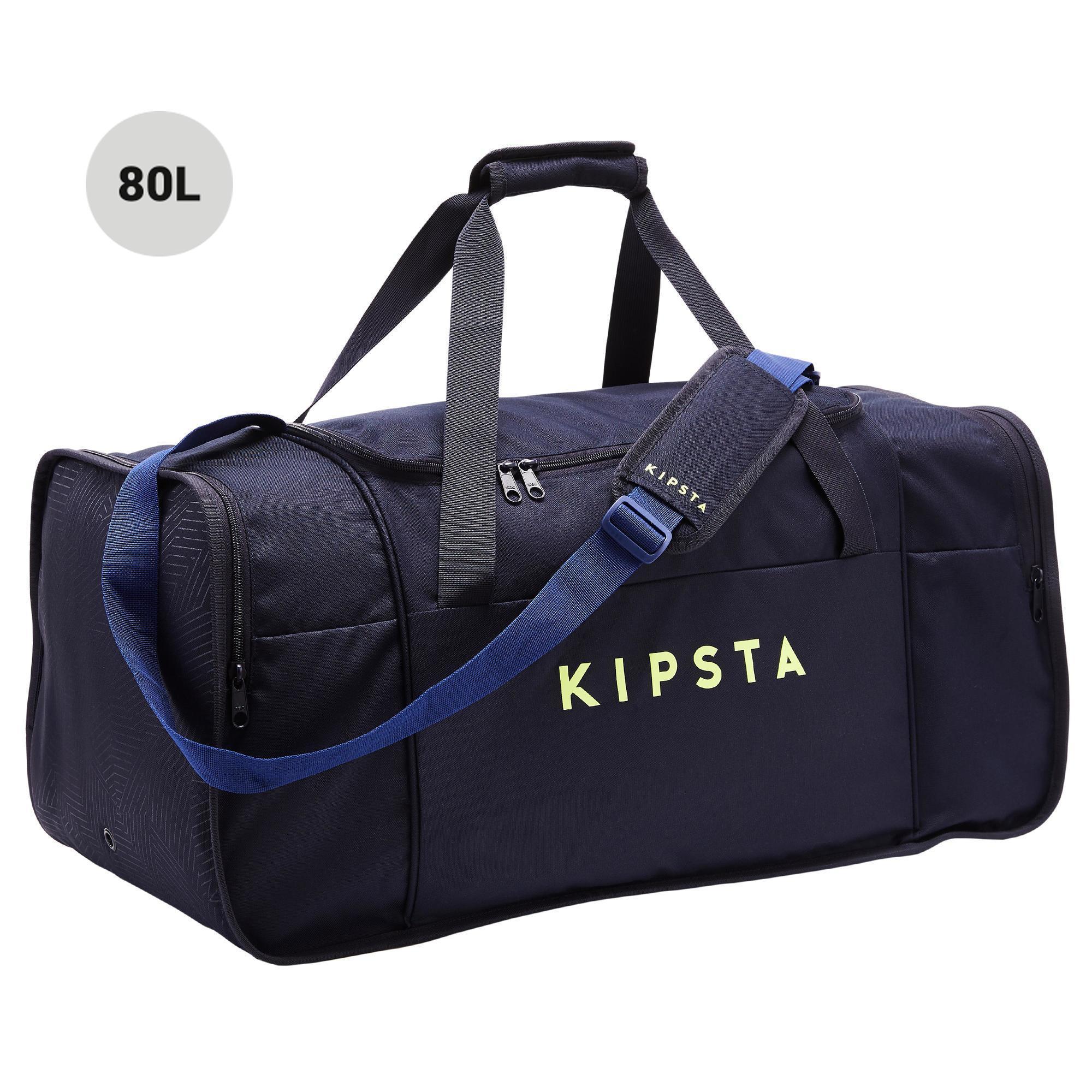 Bolsa de Deporte Kipsta Kipocket 80L Azul Amarilla