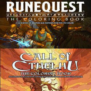 Libro para colorear :: La Llamada de Cthulhu y RuneQuest
