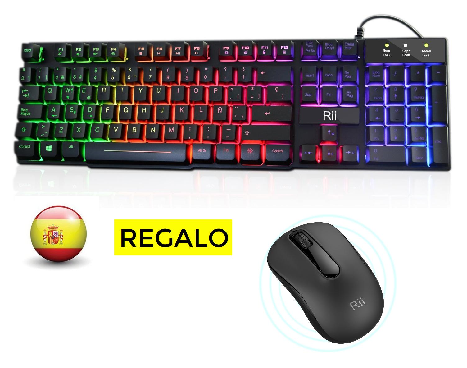 Teclado gaming + ratón inalámbrico solo 18.9€