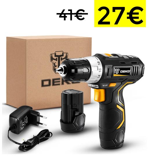 Selección de herramientas Deko (desde España) [Ejemplo: Desatornillador inalámbrico]