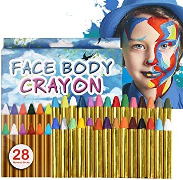 28 Pinturas Para Cara y Cuerpo ideales para Carnavales, Halloween....