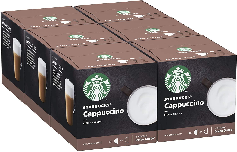 STARBUCKS Cappuccino Nescafe dulce gusto precio al tramitar 6 pack de 12 unidades