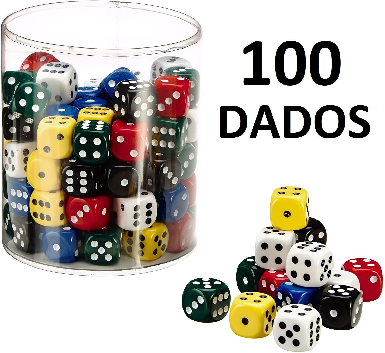 Pack de 100 Dados de 16mm