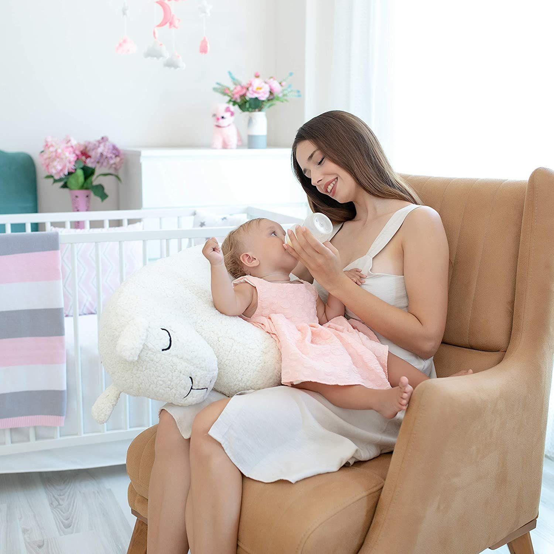 4 en 1: Cojín De Lactancia Bebe, Peluche, Almohada De Aprendizaje y Decoracion
