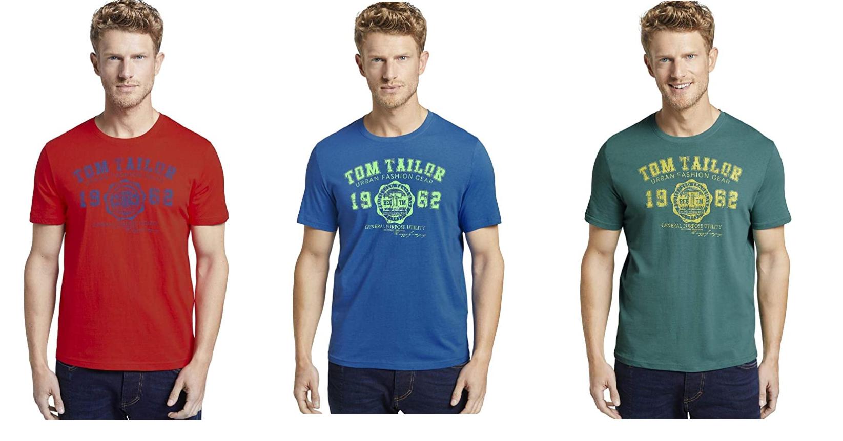 3 COLORES - Tom Tailor Logo T-Shirt Camiseta para Hombre