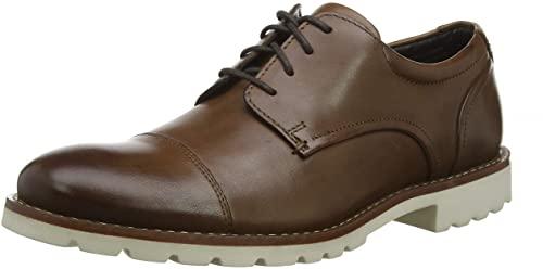 TALLA 43 - Rockport Sharp & Ready Channer Cap Toe, Zapatos de Cordones Oxford para Hombre