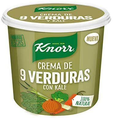 Pack de 6 unidades. Crema Refrigerada de 9 Verduras con Kale - 400 ml