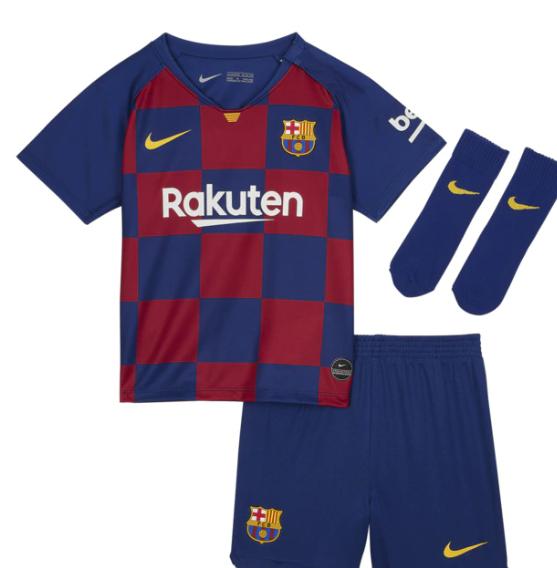 Conjunto de bebés 1ª equipación FC Barcelona 2019-2020 Breathe Nike Tallas de 3 a 12 meses