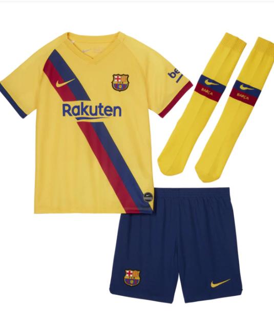 Conjunto de niños 2 ª Equipación FC Barcelona 2019-2020 Nike de Tallas de 3 a 7 años