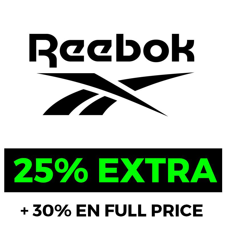 25% EXTRA en el Outlet de Reebok + 30% en no rebajados