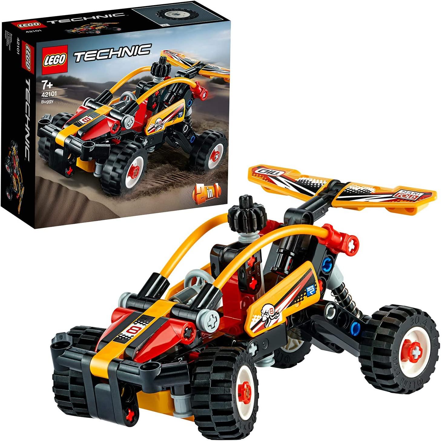 LEGO Technic - Buggy, Set de Construcción 2 en 1 de Coche de Carreras y Todoterreno de Exploración Naranja con Sistema de Suspensión