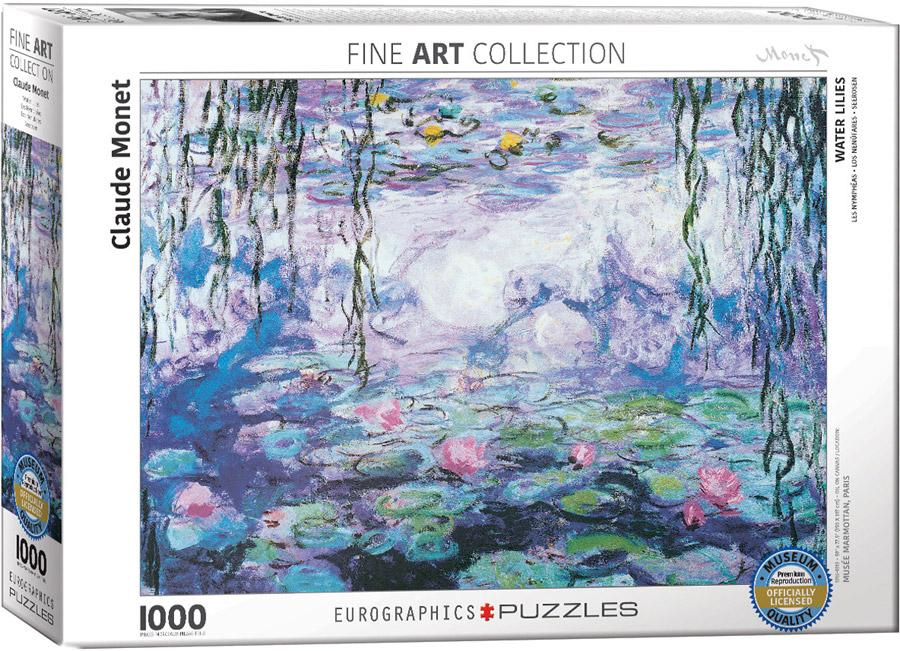 Puzzle Eurographics Water Lilies de Monet 1000 PCS