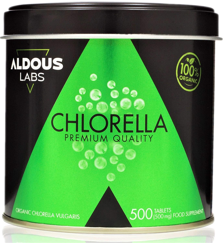 Chlorella Ecológica Premium para 165 días - 500 comprimidos de 500mg - Pared celular rota - Vegano - Libre de Plástico ...