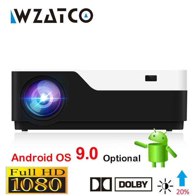 WZATCO M18 1920x1080P Android 9,0 WIFI AC3 4K de 200 pulgadas Full HD 1080P